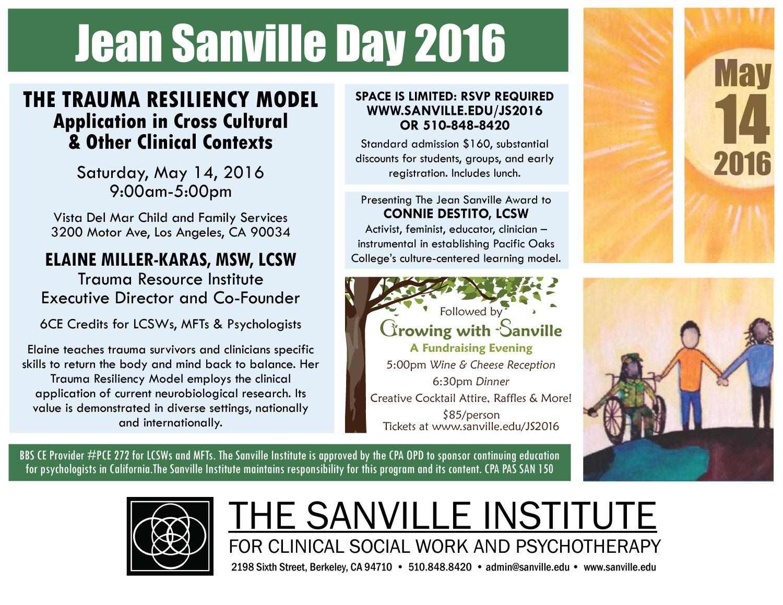 Jean Sanville Day Workshopthe Sanville Institute