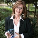 Constance Destito receiving the Jean Sanville Award